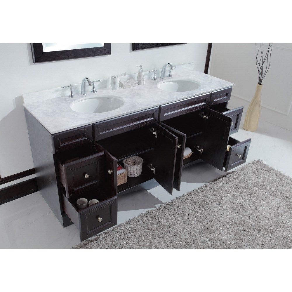 Decker Inch Double Sink Bathroom Vanity For The Home - Bathroom vanities 72 inch double sink for bathroom decor ideas