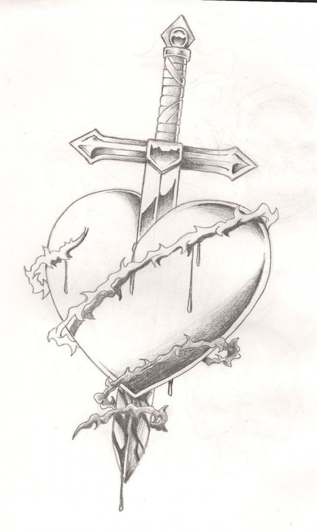 Image detail for -Sword in heart tattoo by Mr-P-P-Hed on deviantART #tattoo #heart #tattoo