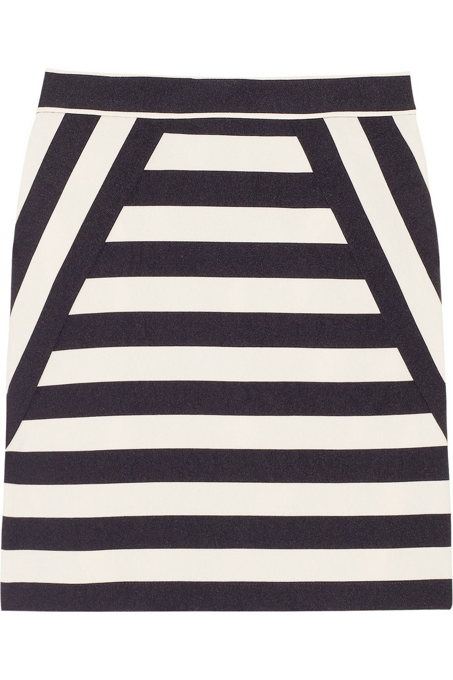 Marc by Marc Jacobs|Scooter striped satin-twill skirt