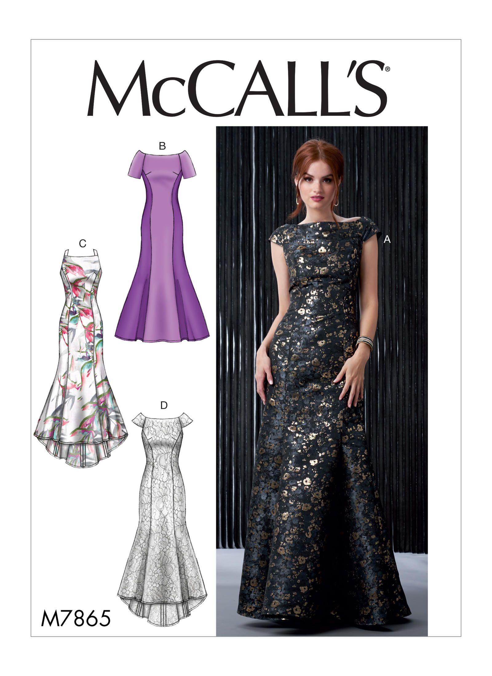 M7865 Misses Dresses Sewing Pattern Mccall S Patterns Prom