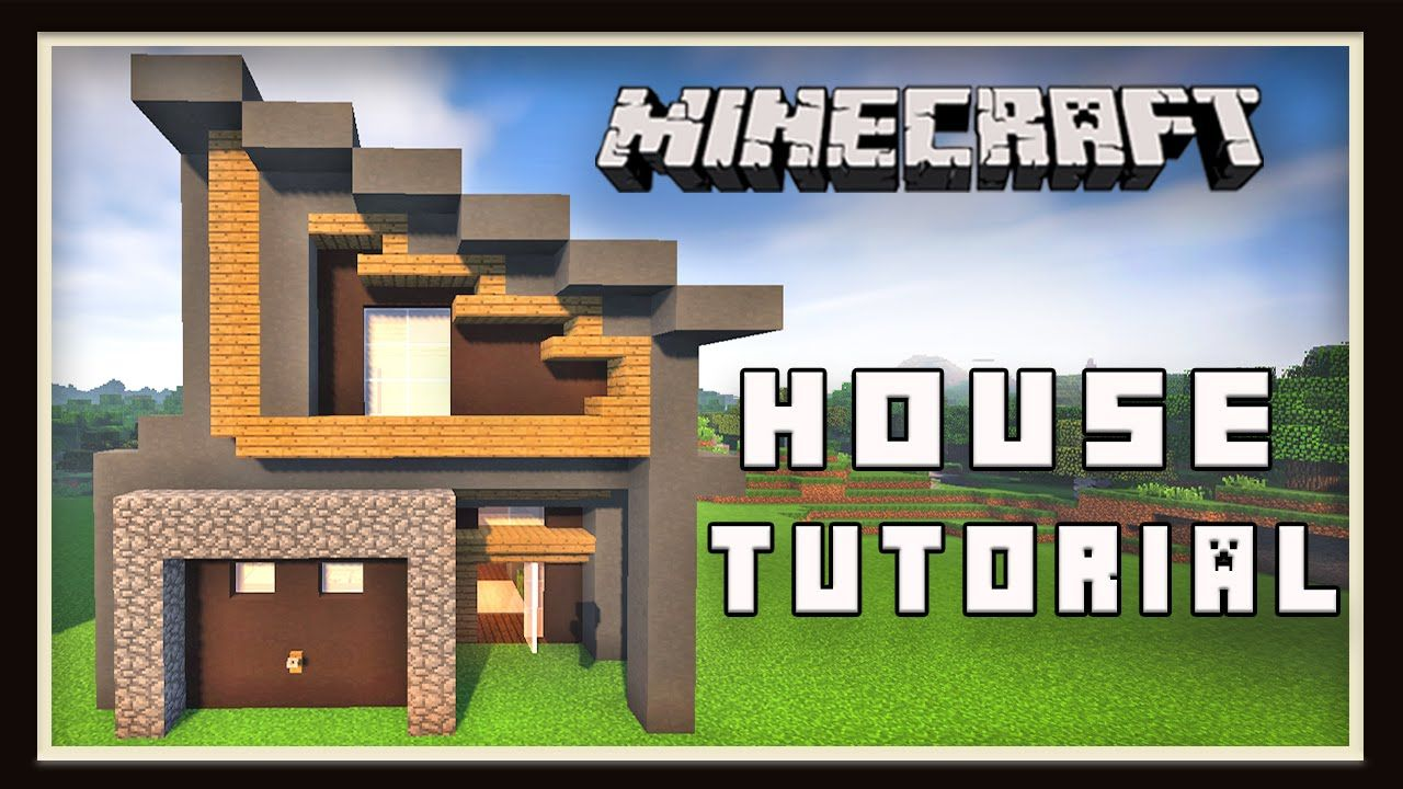 minecraft tutorial how to make a modern house part 7 garden