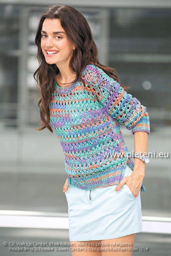 16e1ecfa9710 dámský ručně pletený svetřík z příze Veneta Color Alice