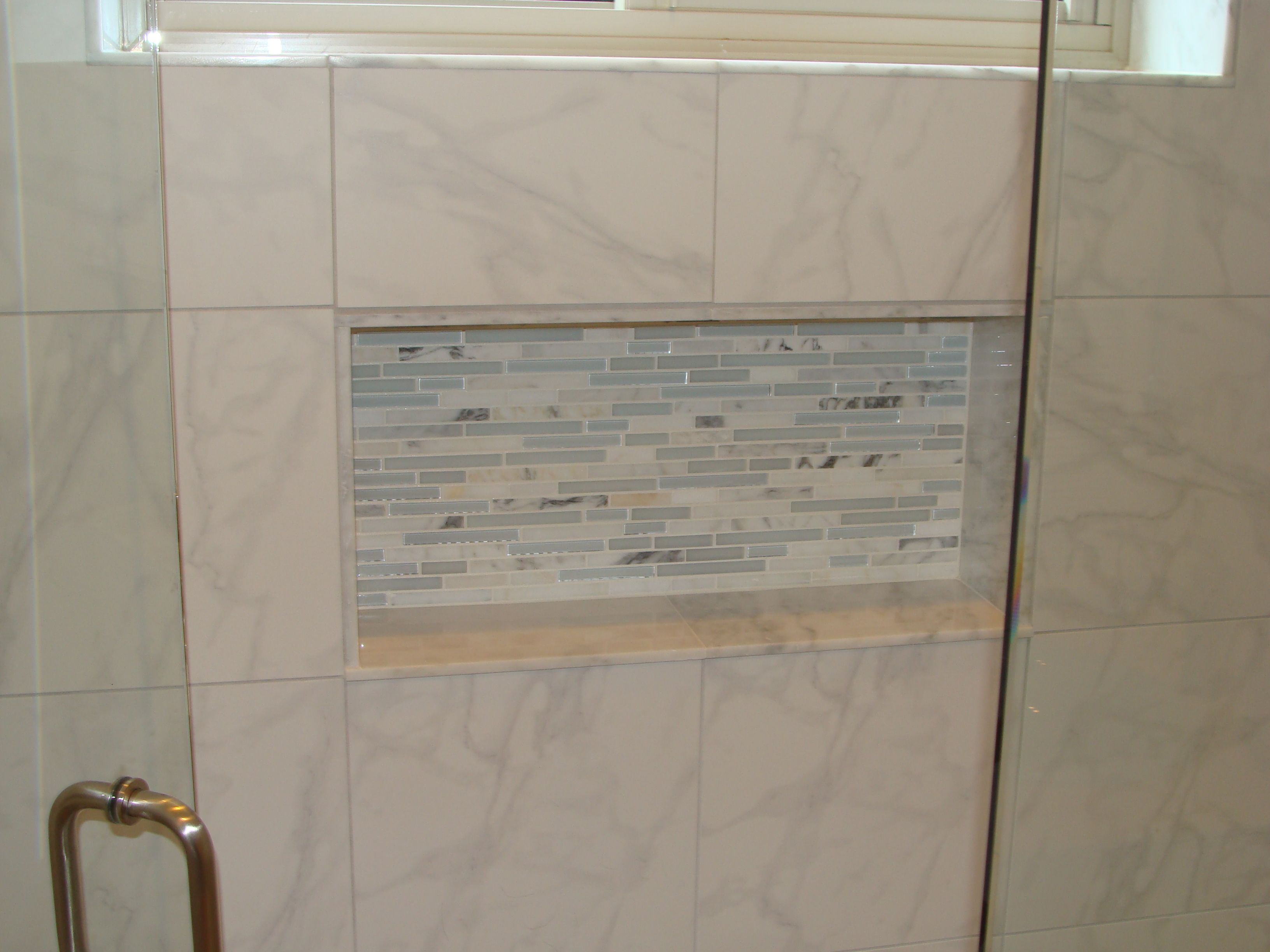 Recessed shower niche 2 bathrooms and kitchens pinterest recessed shower niche 2 dailygadgetfo Choice Image