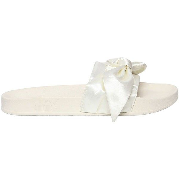023327a740ac Fenty X Puma Women 20mm Bow Satin Slide Sandals ( 110) ❤ liked on Polyvore  featuring shoes
