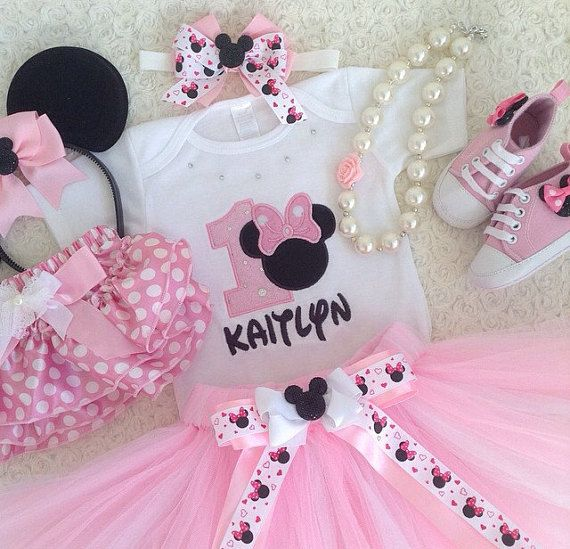 Minnie Mouse Inspired Birthday Outfit Set price include Top( number ...