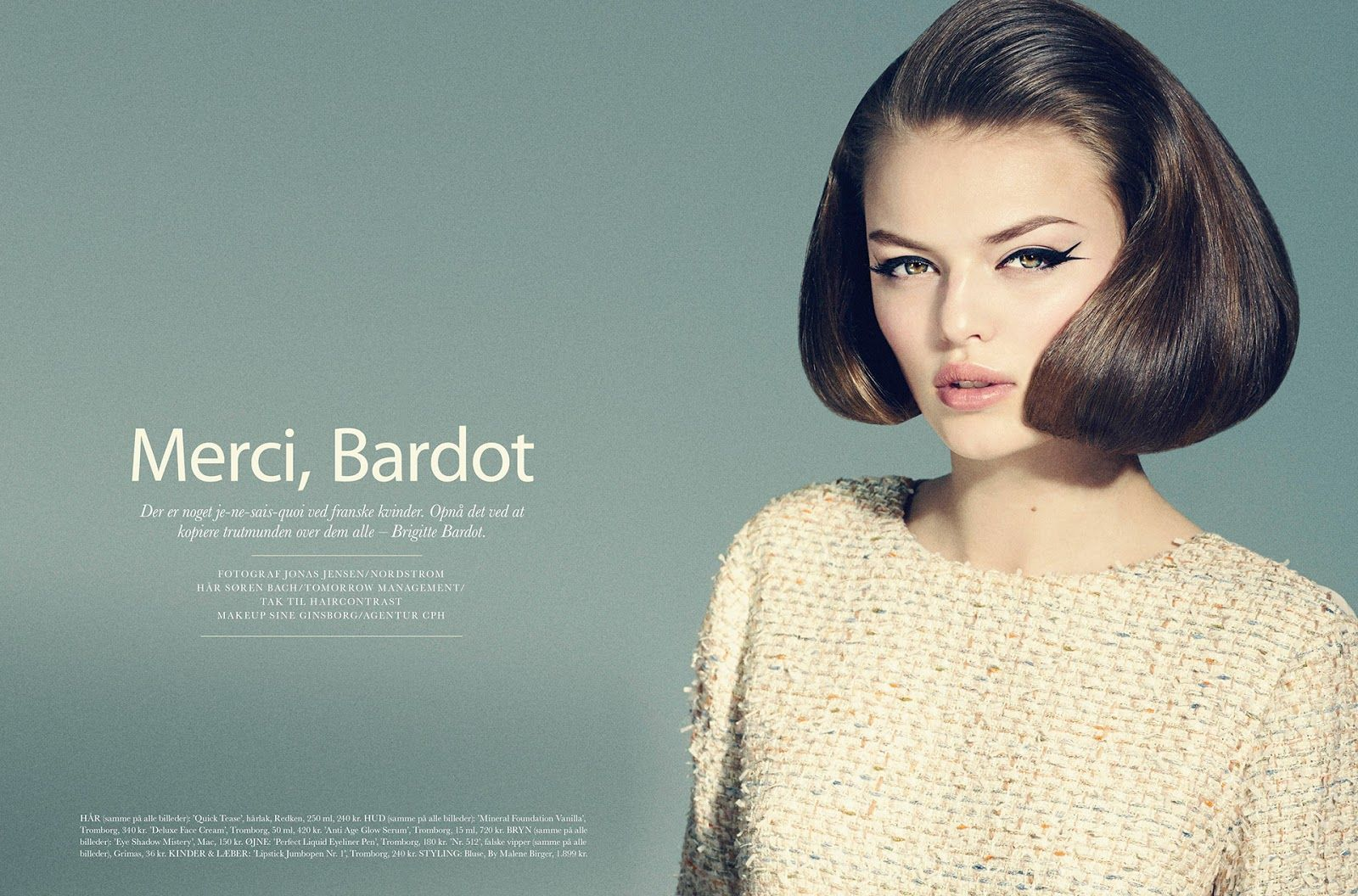 visual optimism; fashion editorials, shows, campaigns & more!: merci, bardot: sophie by jonas jensen for elle denmark june 2013