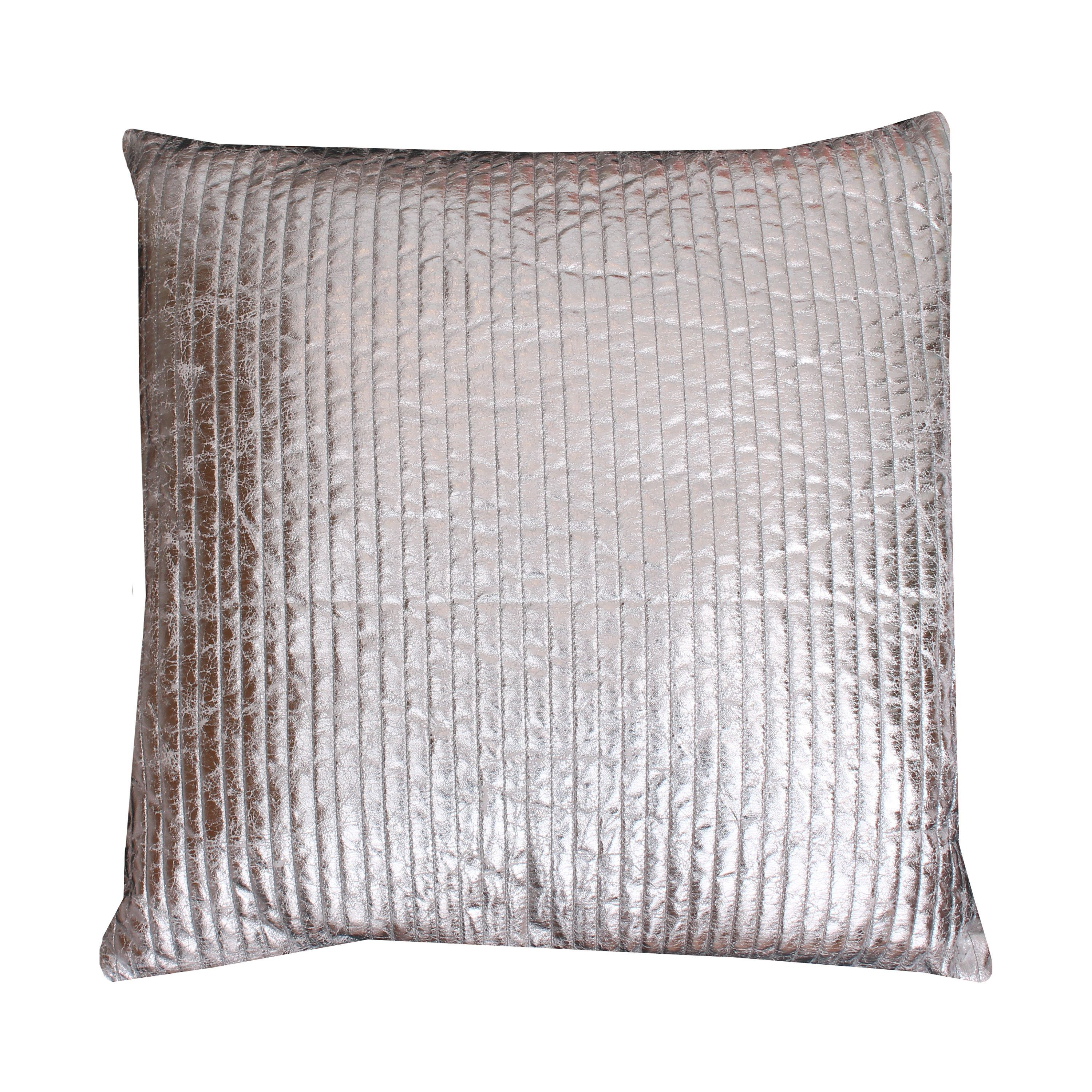 Thro By Marlo Lorenz Gary Quilted Crackle Feather Filled Square Throw Pillow Silver Pillows Metallic Pillow Throw Pillows