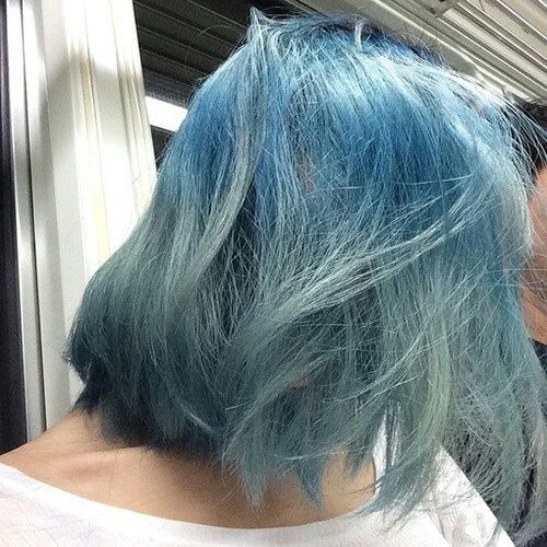 Imagem de hair, grunge, and blue