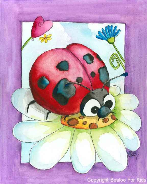 #Ladybug #art from www.bealookids.com