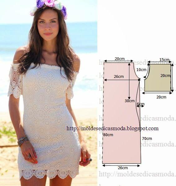 613c449ed Vestido blanco facil de hacer | Costura / Sewing | Sewing patterns ...