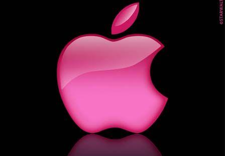 pink apple logo wallpaper ilife pinterest apple logo