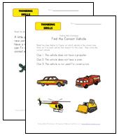 thinking skills worksheets