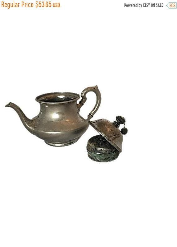 Antique Teapot, Landers Frary and Clark, Universal Tea Ball Tea Pot, Built|In Infuser #teapotset