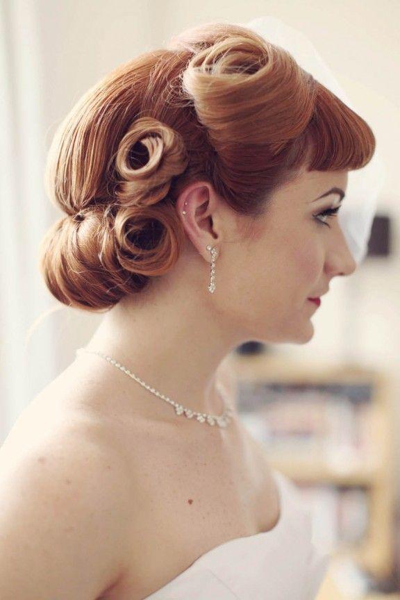 Haywood Jones Photography 50s Wedding Cardiff 7 Retro Wedding Hair Vintage Hairstyles Vintage Wedding Hair
