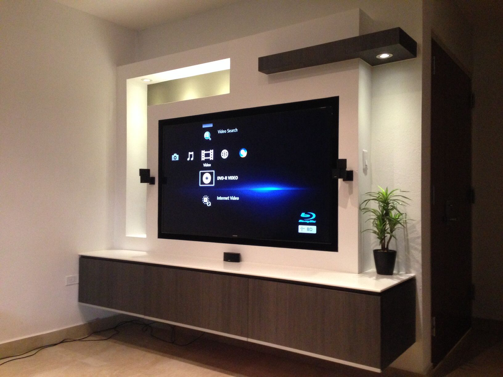 Tv In Wall Proyecto Tv Wall Decor Modern Tv Wall Tv Cabinets