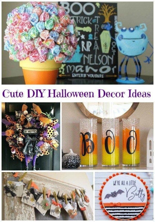 5 Cute Halloween Decor Ideas Pumpkins Pinterest Halloween