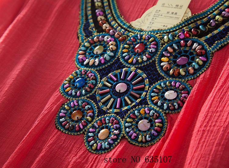 Aliexpress.com: Compre Nova moda casual lantejoula mulheres vestido de verão 2014 camisa vestidos folk estilo bordados feminino blusas vestidos navio livre de confiança saco de camisa fornecedores em yiyi clothing brand.