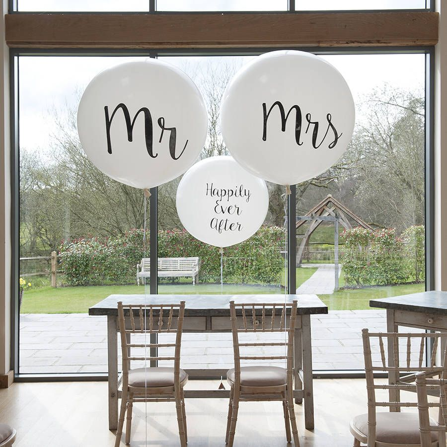 Set Of Two Mr And Mrs Giant Balloons Giant balloons