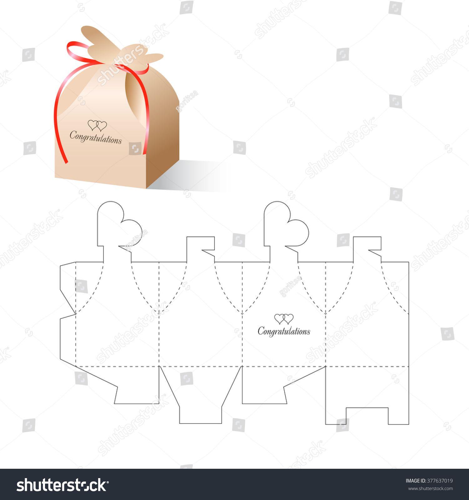 Retail Box with Blueprint Template | Baby | Moldes cajitas ... - photo#33