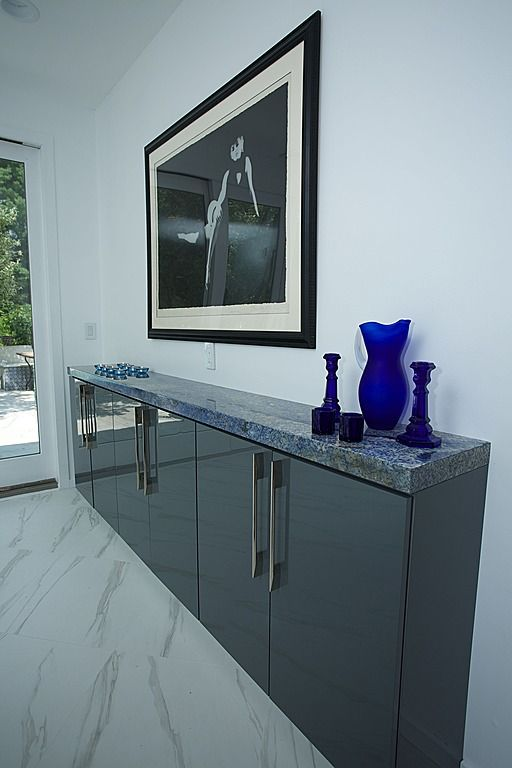 Great example of wall cabinets used as a buffet - Contemporary Kitchen - Found on Zillow Digs ...