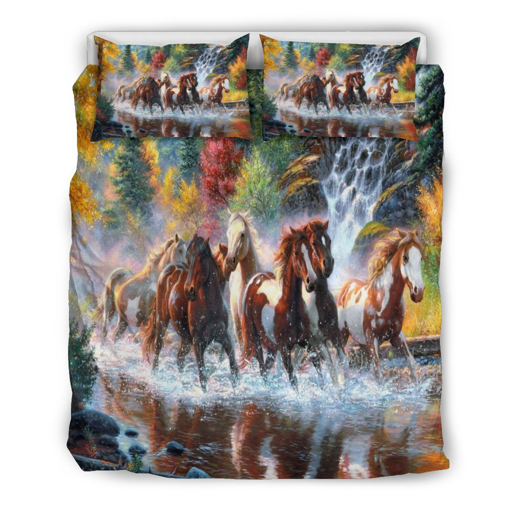 mandala pillow case horse