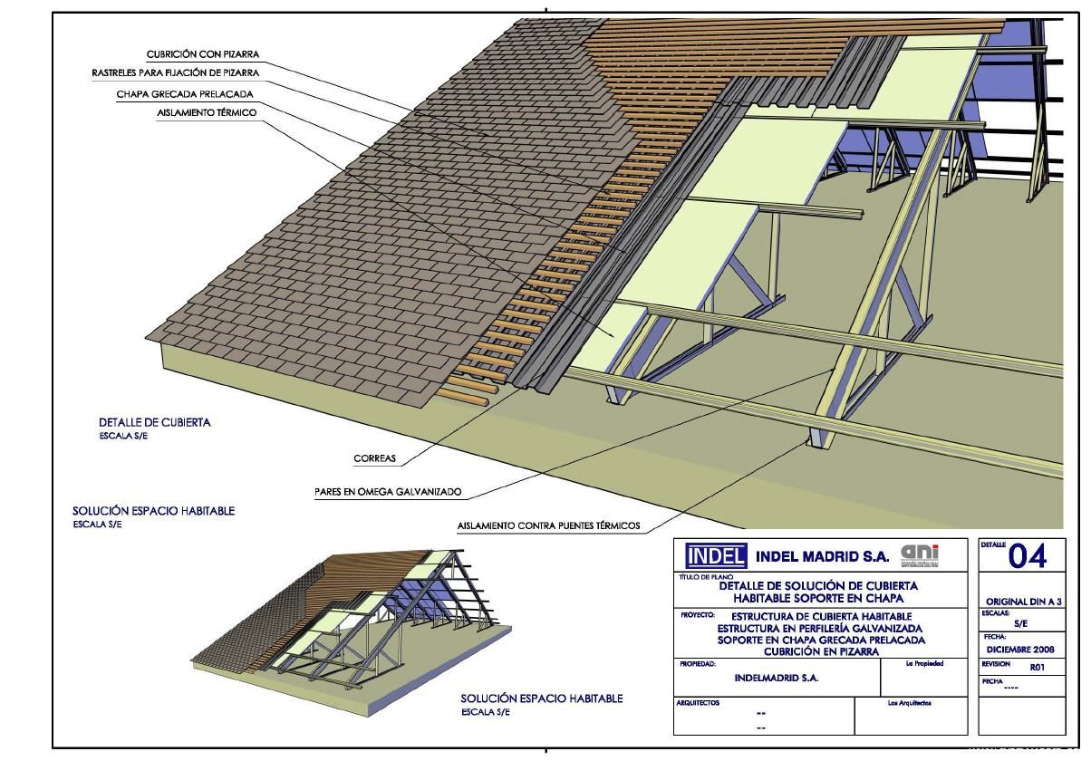 Cubierta indel d e t i l techos inclinados techos y - Tipos de cubiertas inclinadas ...