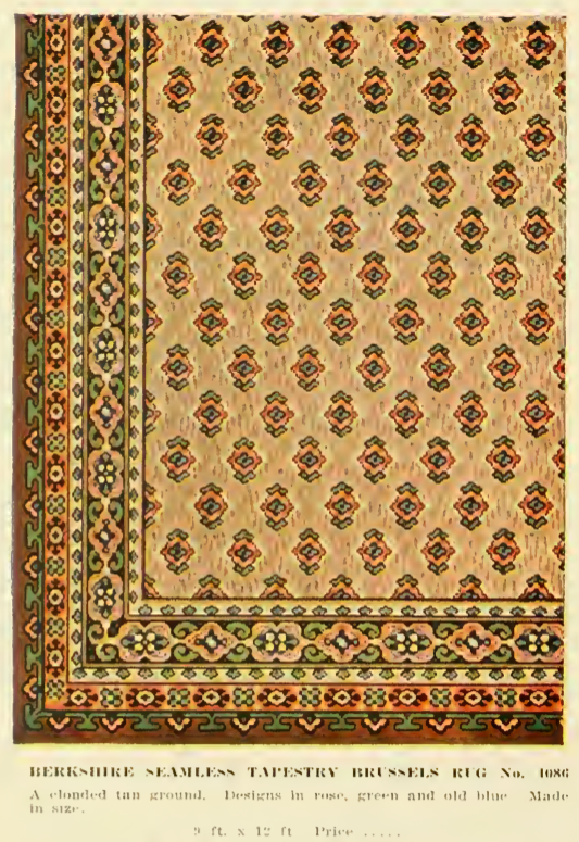Berkshire Seamless Tapestry Rug A Clouded Tan Ground