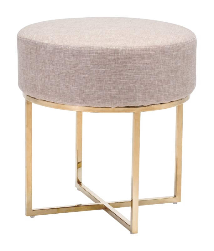 Zuo Modern 100637 Upholstered Stool Round Stool Stool