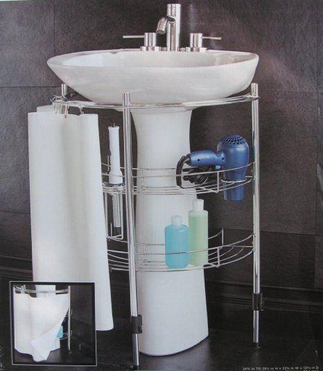 Sensational Amazon Com Under Pedestal Sink Storage Bathroom Home Interior And Landscaping Eliaenasavecom