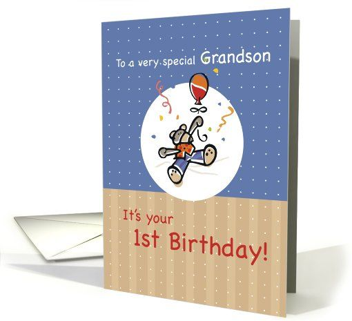 Grandson 1st birthday age specific greeting card universe grandson 1st birthday age specific greeting card universe bookmarktalkfo Images
