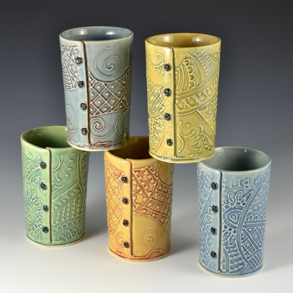 Creative with Clay: Unique Handmade Colorful Pottery by Charan Sachar #slabpottery
