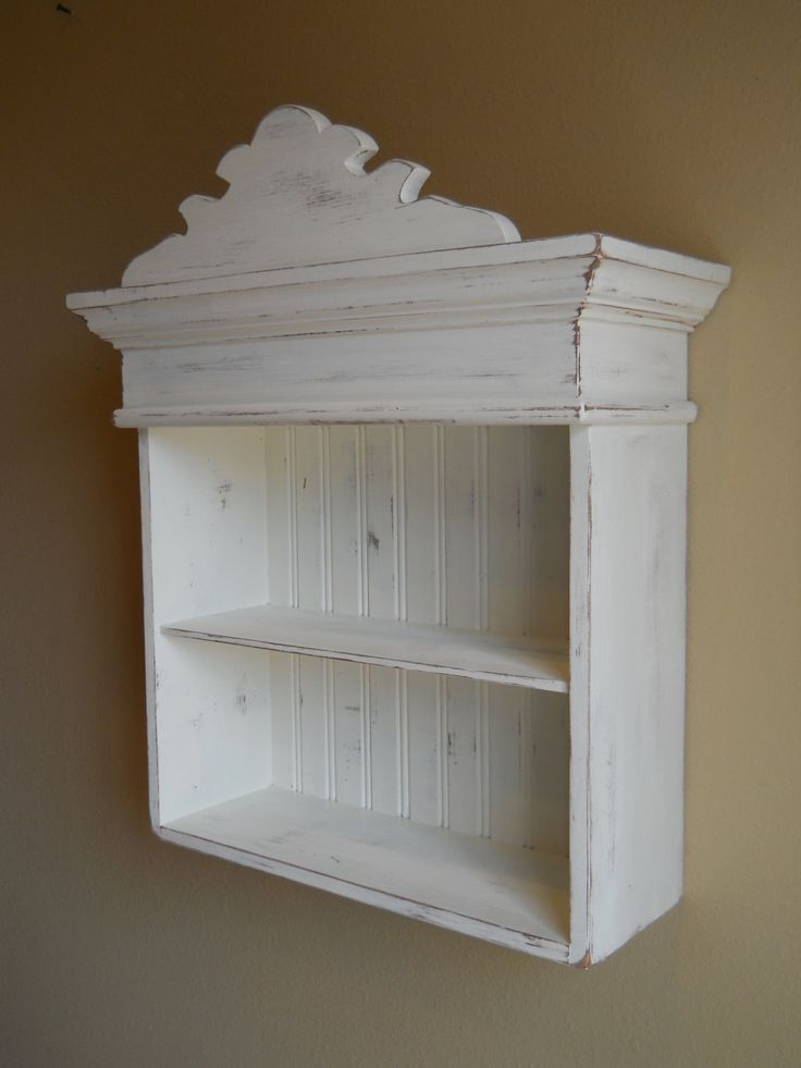 Distressed White Cabinet Bathroom Kitchen Hanging Wall Shabby Chic