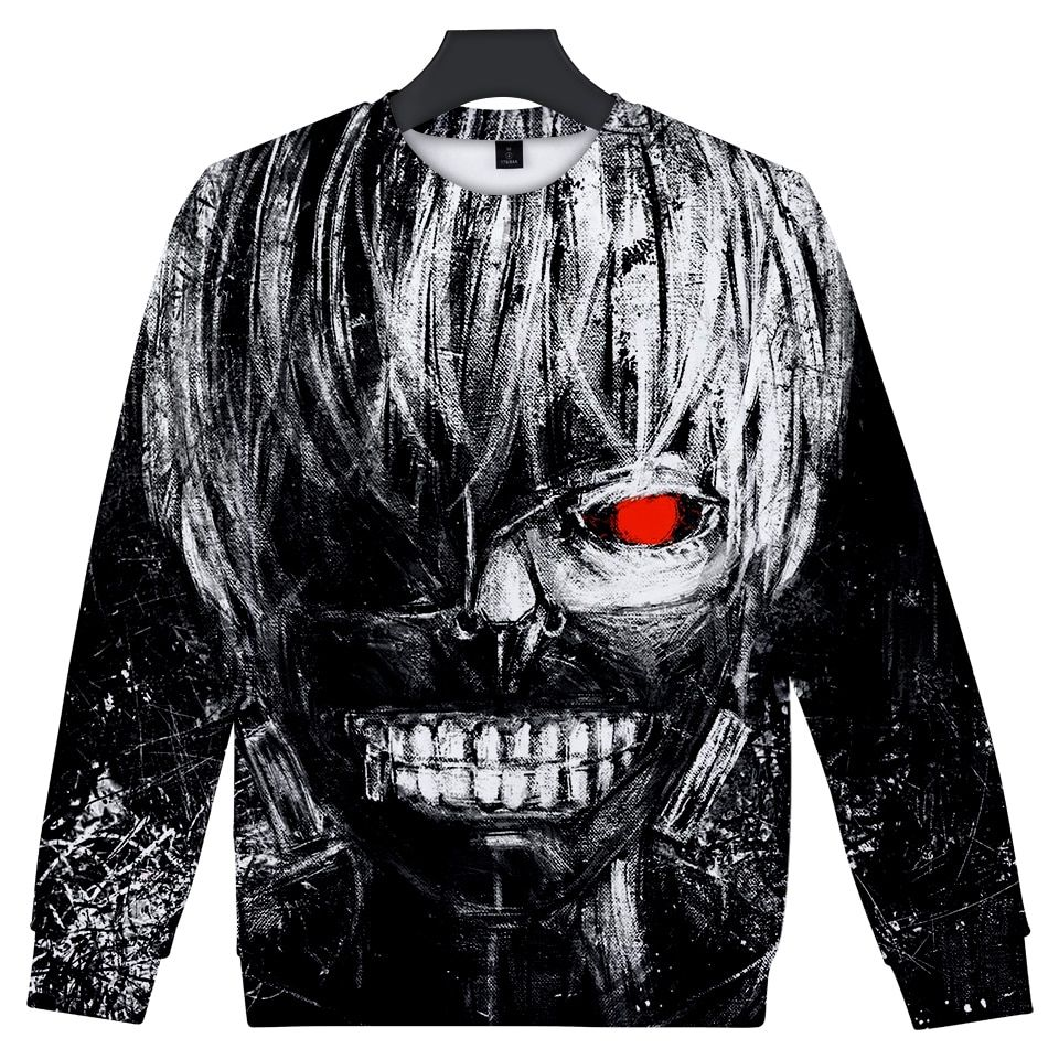 Tokyo Ghoul 3D Sweatshirt Hoodie Free Shipping Worldwide
