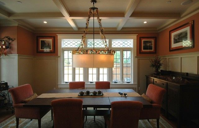 Dining Room Plate Rail Inspirationspace Between Vertical Rails Glamorous Craftsman Dining Room Lighting Review