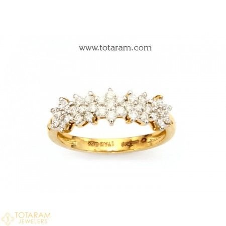 Diamond Rings for Women Indian gold jewelry Gold diamond rings