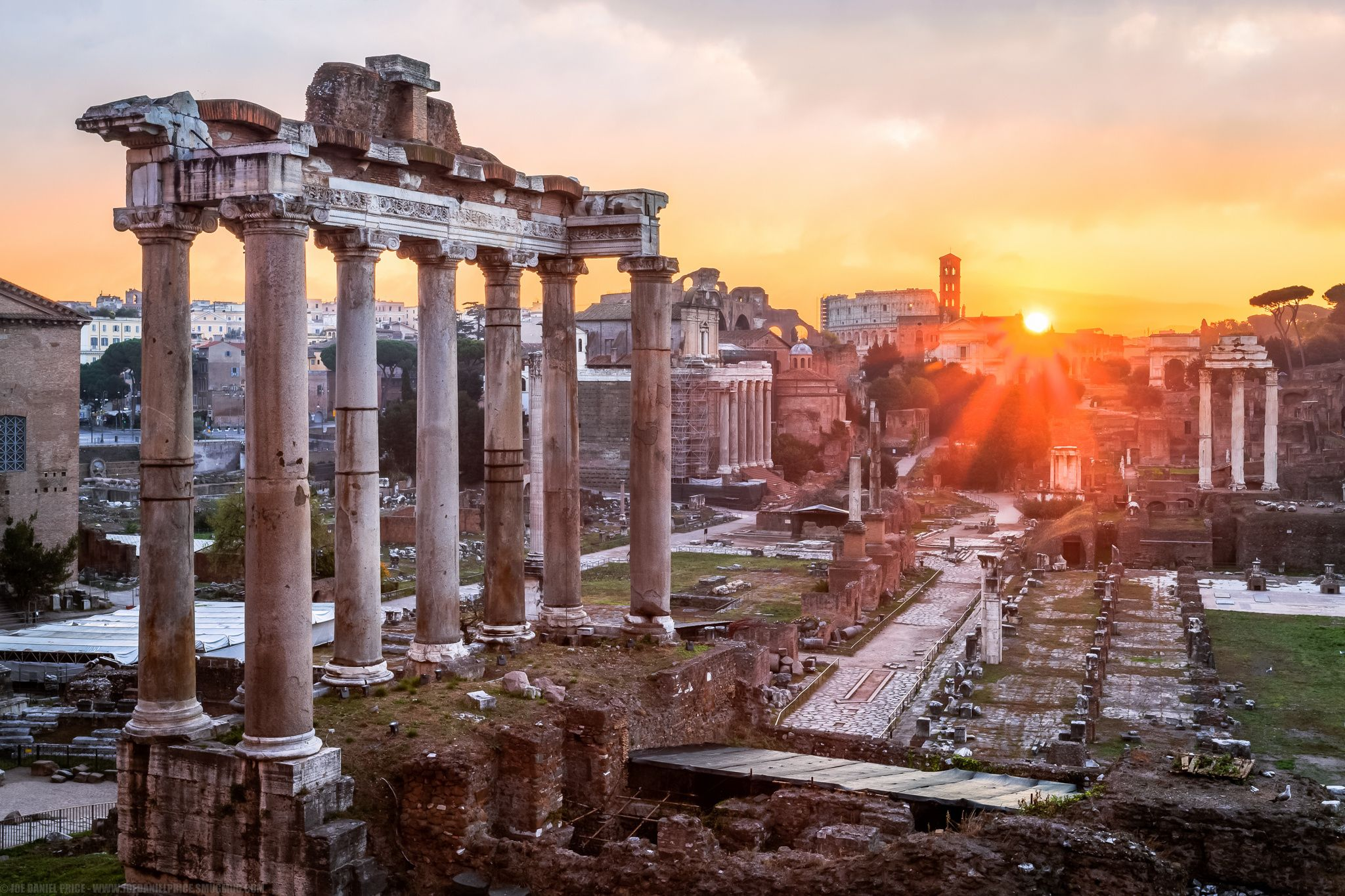 Photograph Sunrise, Roman Forum, Rome, Italy by Joe Daniel