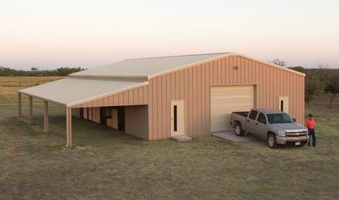 Walls: Desert Tan; Trim U0026 Roof: Light Stone; Roll Up Door