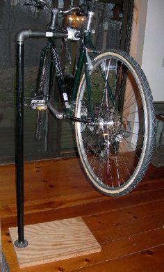 Home made bicycle stand. | Bike repair stand, Bike ...