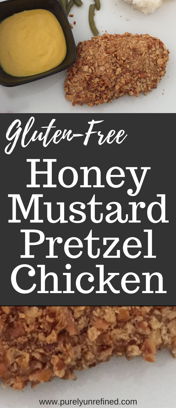 Gluten free honey mustard pretzel chicken purely