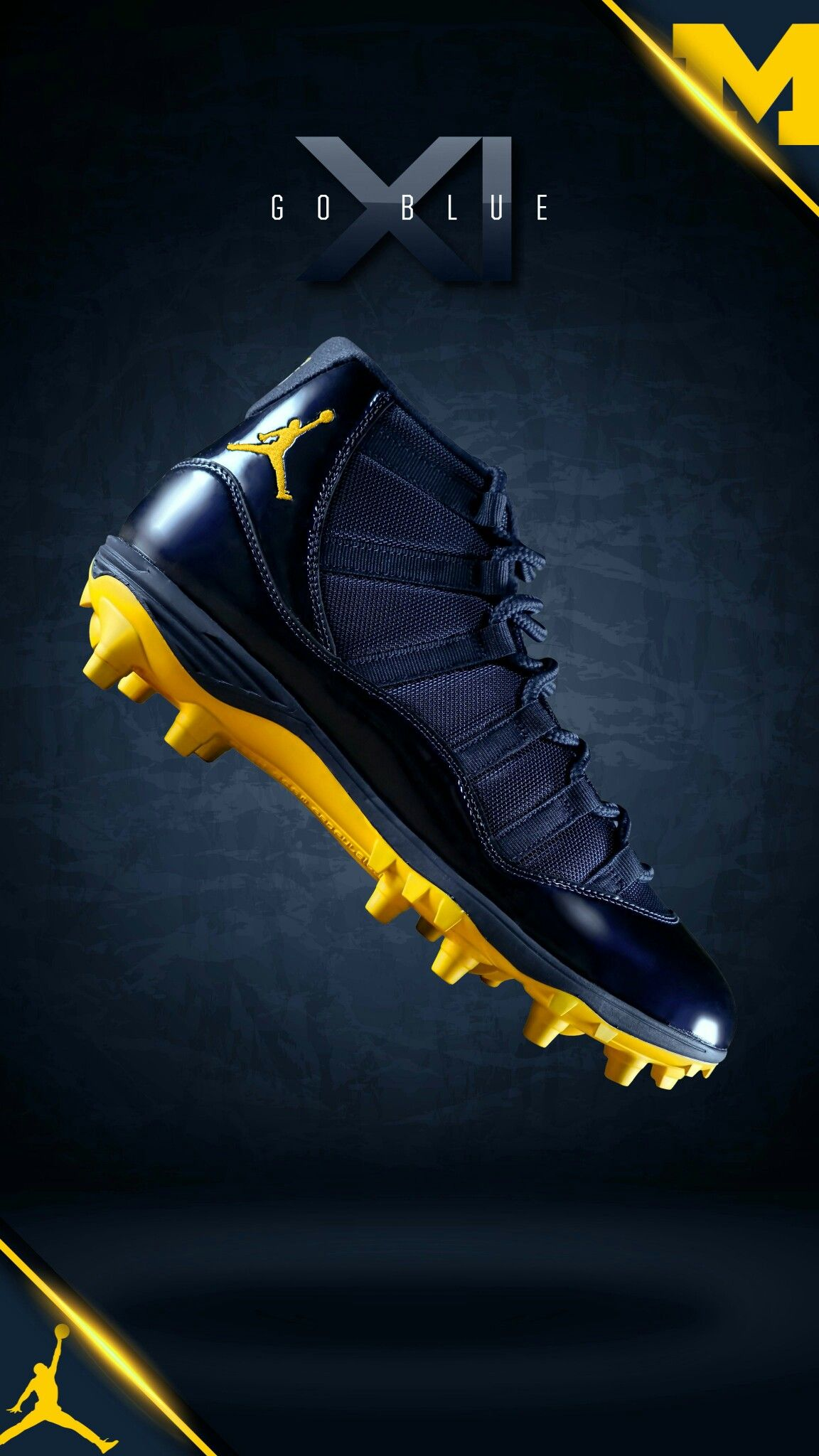 Pin By Eric On Michigan Shoes Uniforms Mens Football Cleats Football Gear Cleats