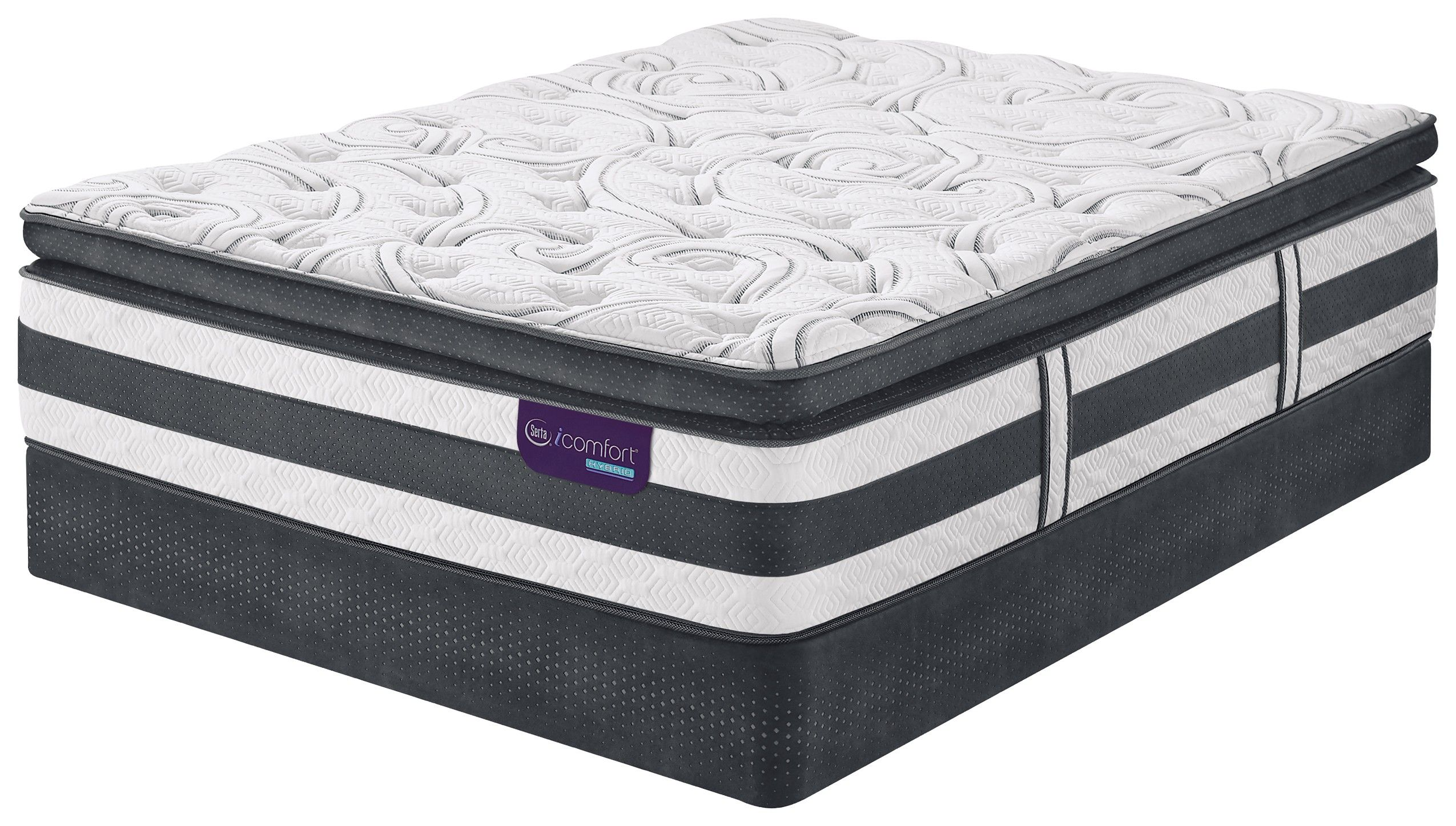 Serta Perfect Sleeper Lockland Super Pillow Top Mattress Hybrid