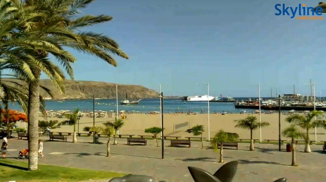 Live webcam playa de los cristianos y muelle arona tenerife canarylive24 pinterest - Arona web camera ...