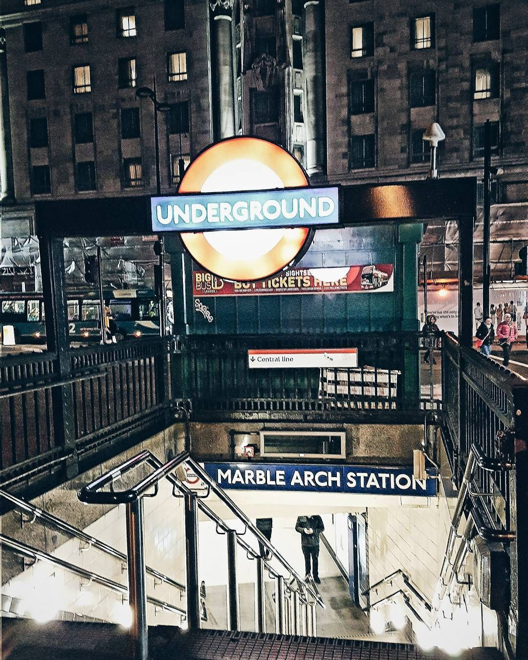 Marblearch Marblearchstation London Londonnights Tube Londonunderground Londontube Underground Mainthegap Marble Arch London Underground London Tube