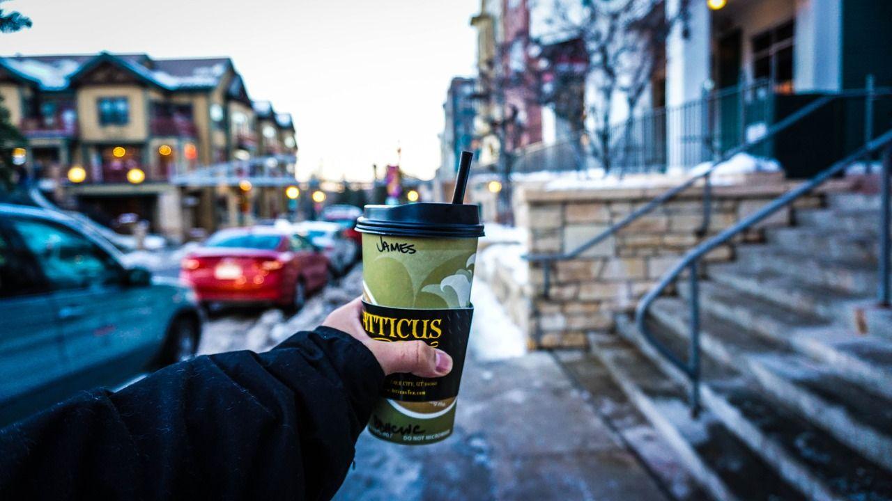 Coffee street coffee blur drink cold coffee street