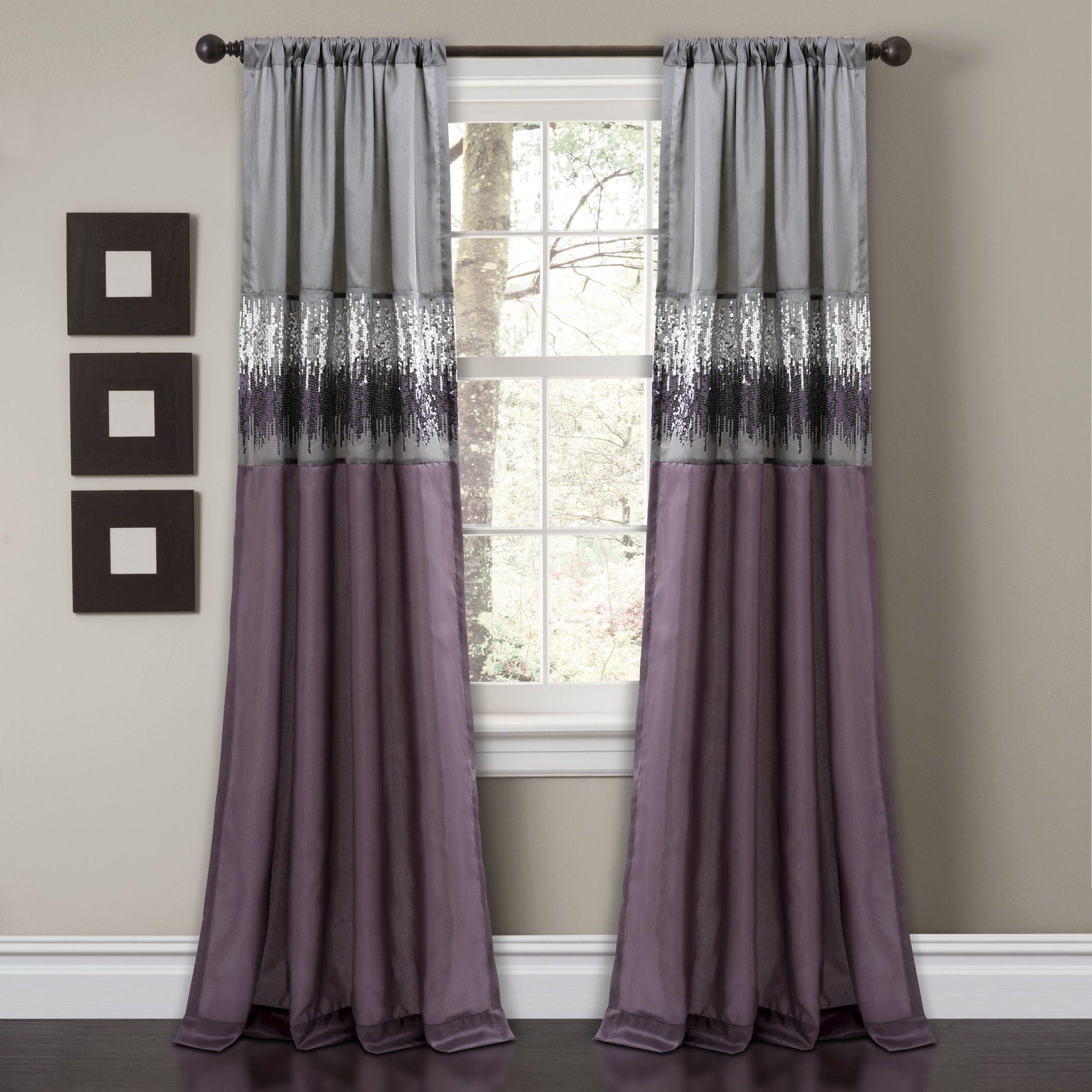 Night Sky Window Curtain Panel Purple Curtains Lush Decor