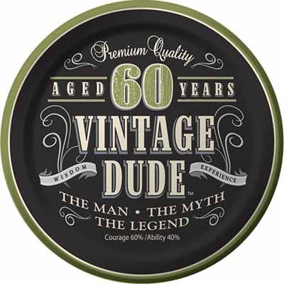 Vintage Dude 60th Birthday Party Supplies Decorations Invitations Balloons And Plates