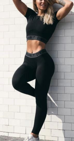 Gymshark Fit Leggings - Black/White