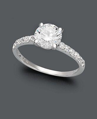 Arabella 14k White Gold Ring Swarovski Zirconia Wedding Ring 234