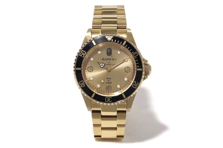 Bape Gold Bapex Type 2 Watch Outlit Rolex Watches Bape Watch