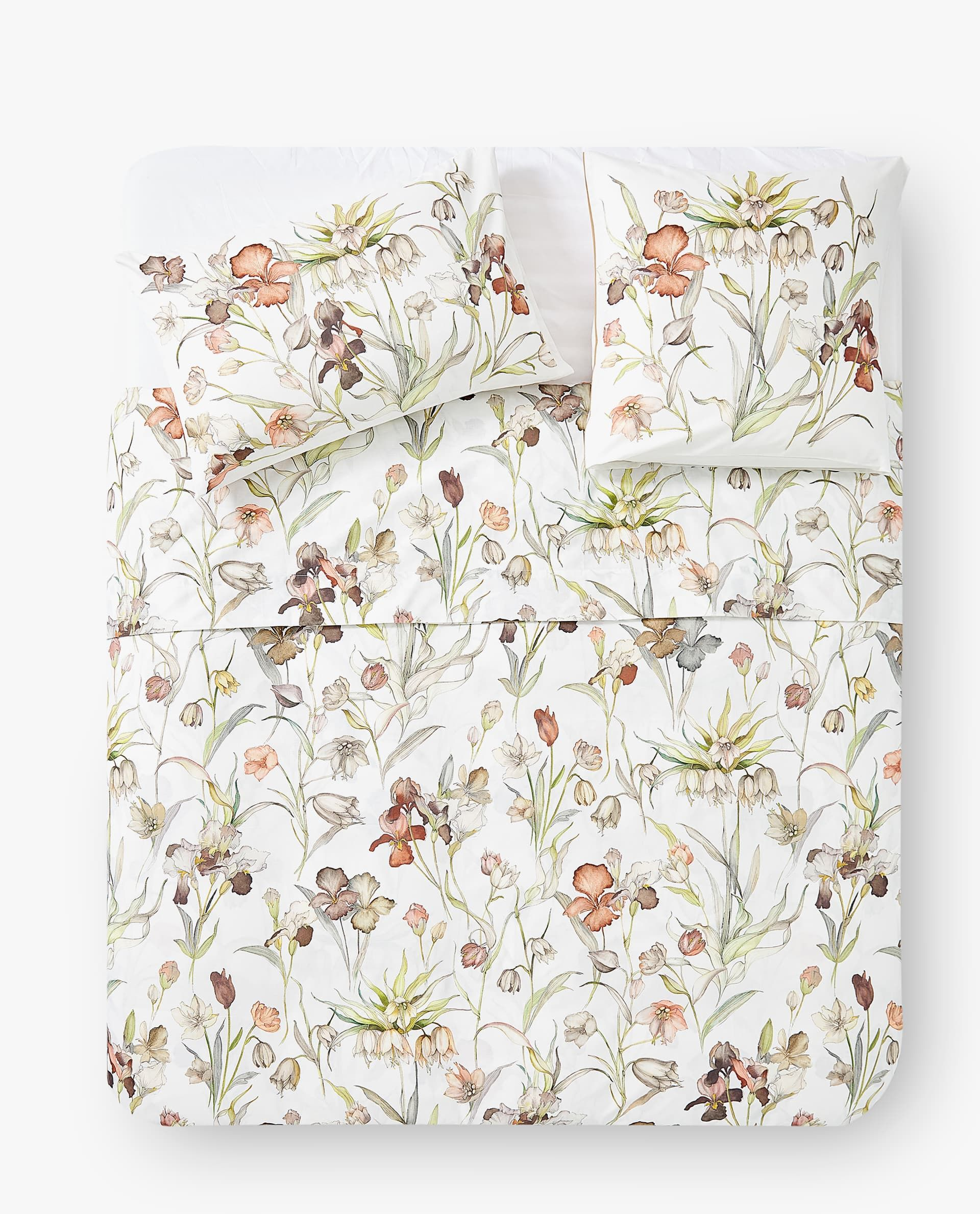 FLORAL PRINT DUVET COVER DUVET COVERS BEDROOM Zara